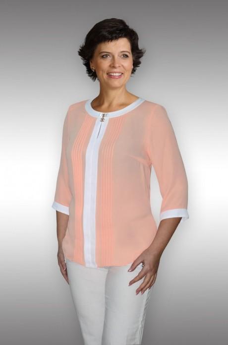 Блузки и туники Таир-Гранд 62208‐1 персик/белый