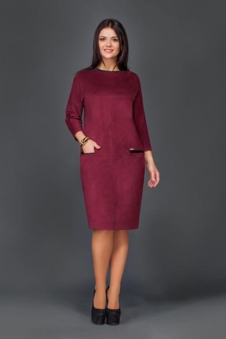 Повседневное платье Lissana  2693 баклажан
