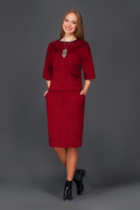 Юбочный костюм /комплект Lissana 2699 бордо