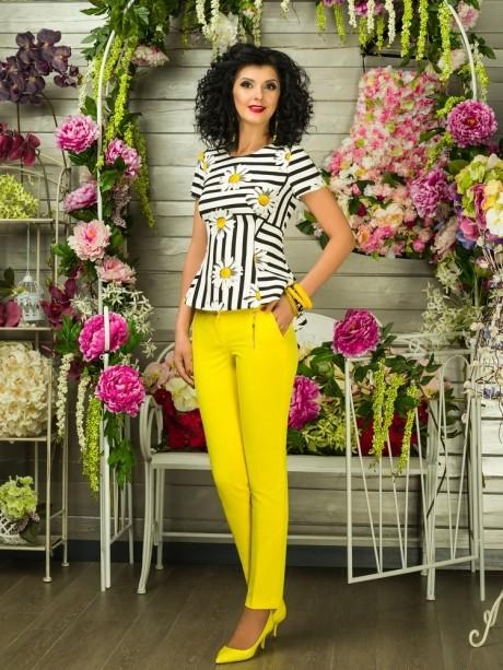Блузки и туники Твой Имидж 2106 желтые ромашки