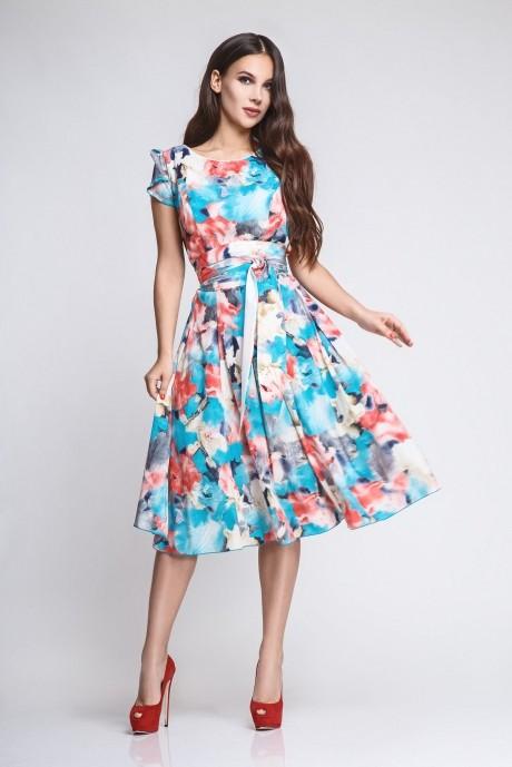 Летнее платье Teffi Style 721/1 бирюза