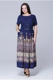 Длинные платья Runella  1065 темно-синий фото 1