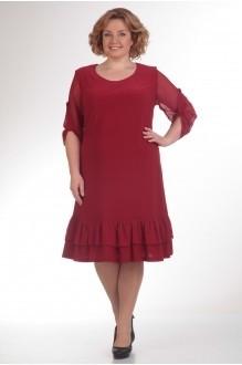 Повседневное платье Прити 417 бордо фото 2