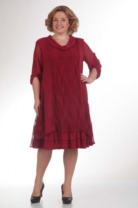 Повседневное платье Прити 417 бордо