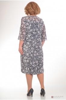 Повседневное платье Прити 422 черно-белые тона фото 2