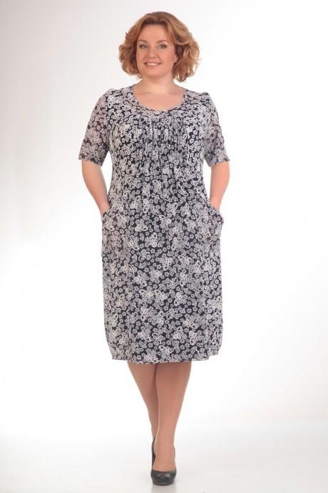 Повседневное платье Прити 422 черно-белые тона