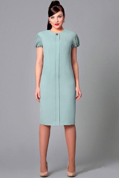 Вечернее платье Runella 1160 серо-голубой