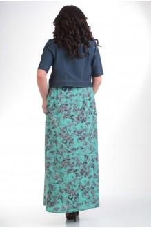 Юбочный костюм /комплект Лиона-Стиль 487 бирюза фото 2