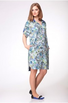 Повседневное платье Ладис Лайн 701 синий фото 1