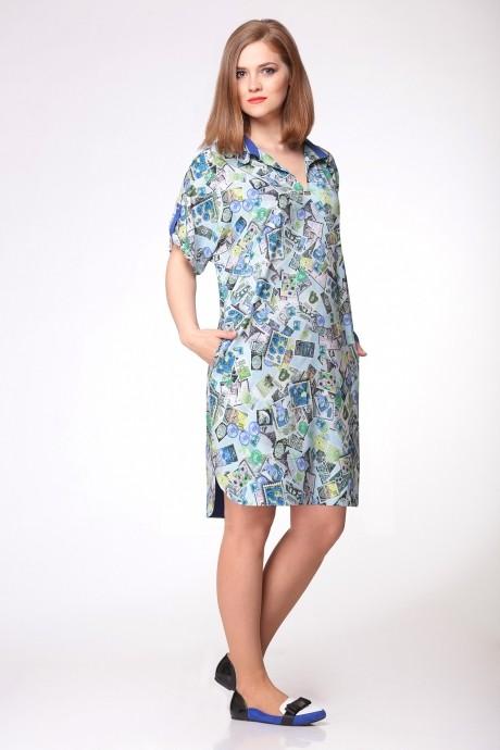 Повседневное платье Ладис Лайн 701 голубой