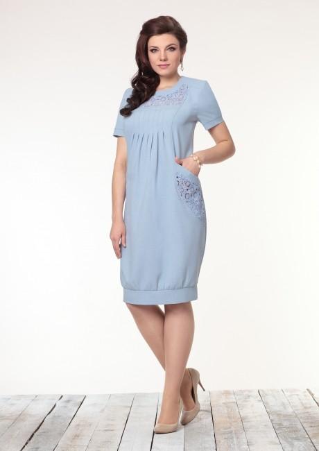 Повседневные платья Галеан-стиль 450 голубой