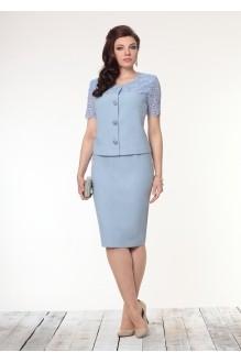 Юбочный костюм /комплект Галеан-стиль 452 голубой фото 1