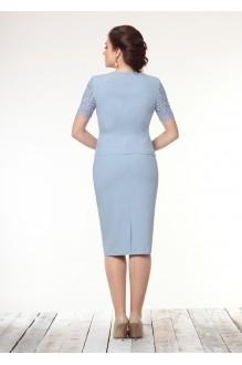 Юбочный костюм /комплект Галеан-стиль 452 голубой фото 2