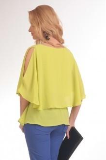 Брючный костюм /комплект Нинель Шик 5398 желтый/синий фото 2