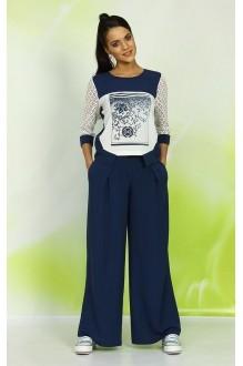 Брючный костюм /комплект ALANI COLLECTION 327 синий фото 2