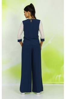 Брючный костюм /комплект ALANI COLLECTION 327 синий фото 3