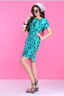 Летнее платье Lissana 2830 бирюза фото 2