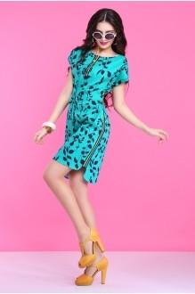 Летнее платье Lissana 2830 бирюза фото 3