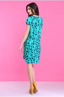 Летнее платье Lissana 2830 бирюза фото 4