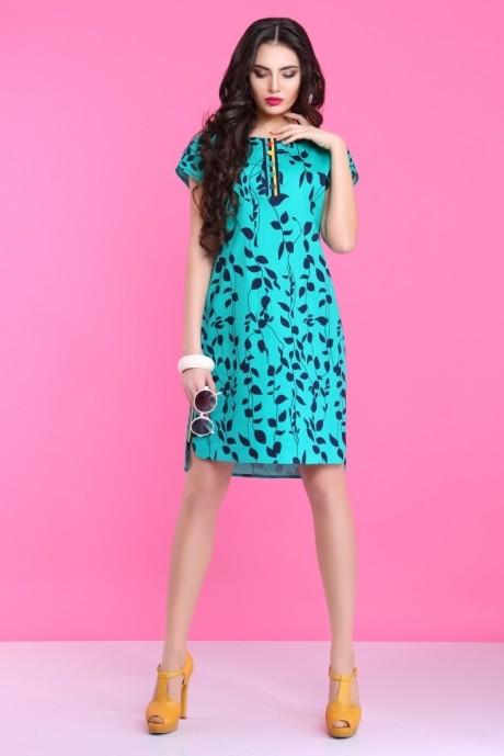 Летнее платье Lissana 2830 бирюза