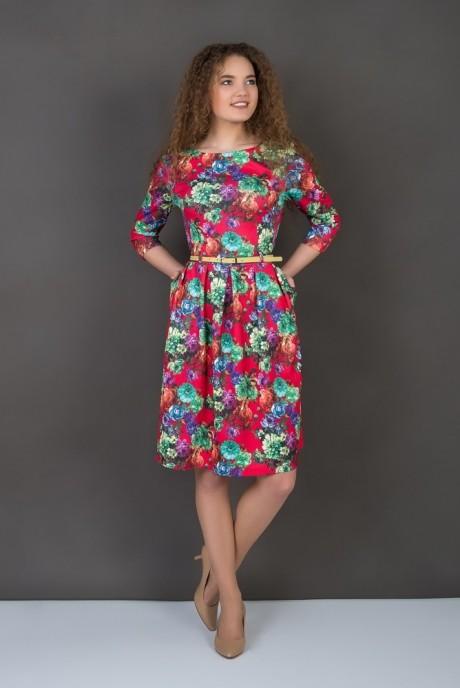 Повседневное платье ASPO design 832 K красный FashionCors