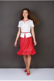 Повседневное платье ASPO design 913 BK бело-красный FashionCors фото 1
