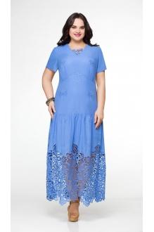 Длинное платье Aira Style 481 василек фото 1