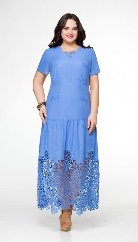 Длинное платье Aira Style 481 василек