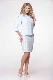 Юбочный костюм /комплект Надин-Н 1287 голубой фото 1