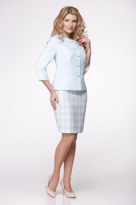 Юбочный костюм /комплект Надин-Н 1287 голубой