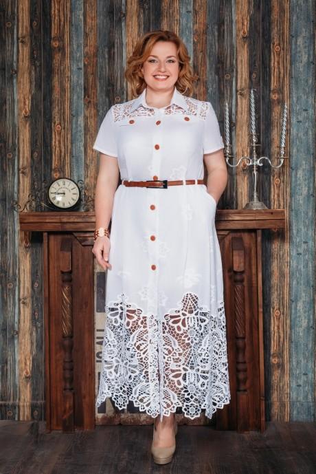 Длинные платья Aira Style 480 белый