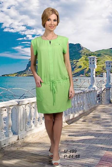Летнее платье Мишель Стиль 499 салатовый