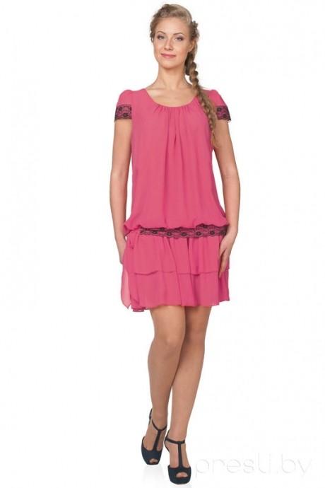 Летнее платье Teffi Style 940 фуксия