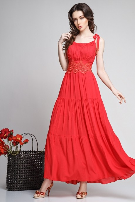 Сарафан Teffi Style 1180 красный