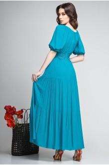 Длинное платье Teffi Style 1166 темная бирюза фото 2