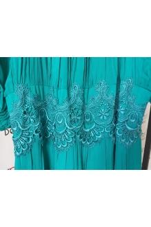 Длинное платье Teffi Style 1166 темная бирюза фото 3