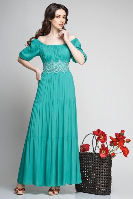 Длинное платье Teffi Style 1166 мята