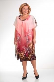 Вечерние платья Прити 66 розовый/леопард фото 1