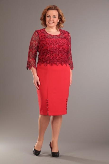 Деловое платье Diomant 989 красный