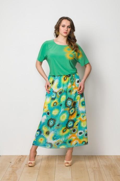 Длинное платье Gold Style 1893 зеленый