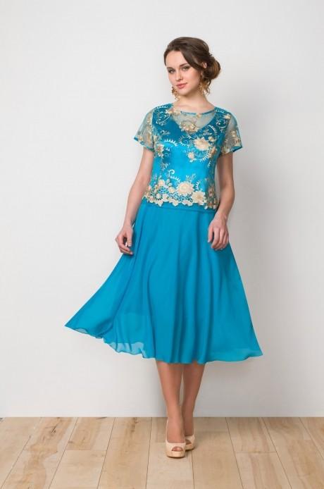 Вечерние платья Gold Style 1902 бирюза