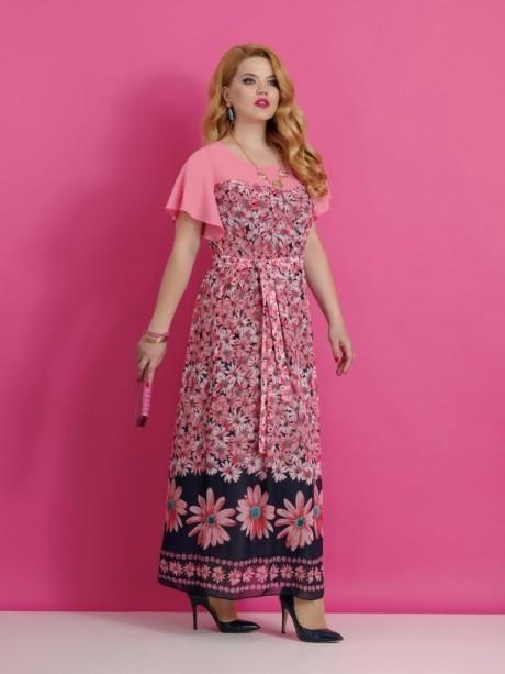 Длинные платья Lissana 2640 (1) розовый