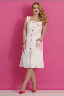 Летнее платье Lissana 1830 белый/красный фото 1
