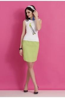 Юбочный костюм /комплект Lissana 2063 салат фото 3