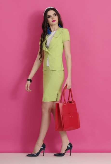 Юбочный костюм /комплект Lissana 2063 салат