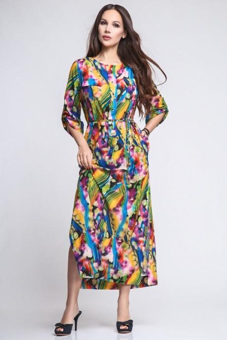 Длинное платье Teffi Style 1195 акварель