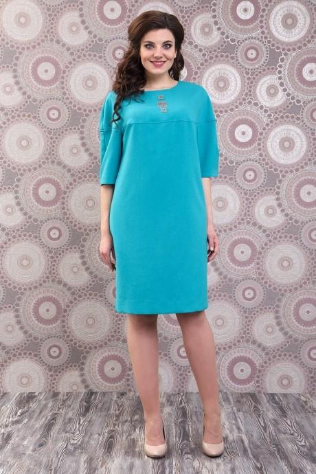 Повседневное платье Fashion Lux 809 бирюза