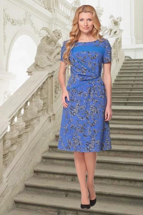 Летнее платье Карина Делюкс 58 синий
