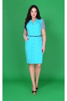 Повседневное платье Azzara 197B бирюза+полоска фото 1