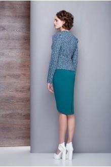 Юбочный костюм /комплект Golden Vallеy 6149 бирюзово-синий фото 2